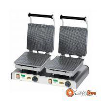Stroopwafelijzer dubbel  braderieën & markten  600x340x(h)250mm  4,4kw  400v