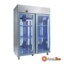 Cool-line koelkast met glazen deur ku 1402-g base