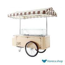 Consumptie-ijs wagen carrettino beige